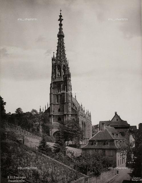 View of a church in Stuttgart