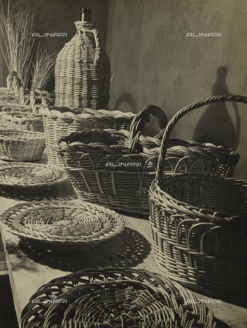 Young workers in the G.I.L of Ravenna: exhibition of wicker objects made by the children in the basket workshop