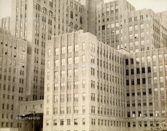 View of a building complex in New York City.