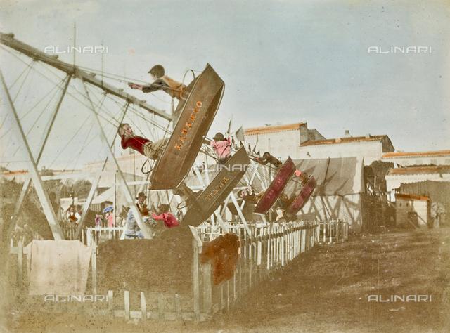Children on the swing in Livorno