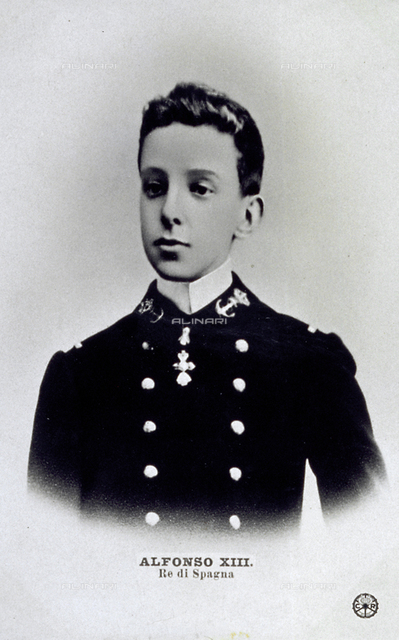 Alfonso XIII, king of Spain, as a boy
