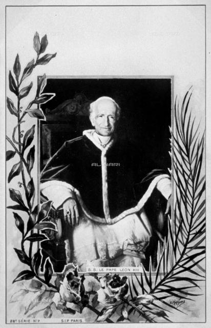 Three-quarter length portrait of Pope Leone XIII