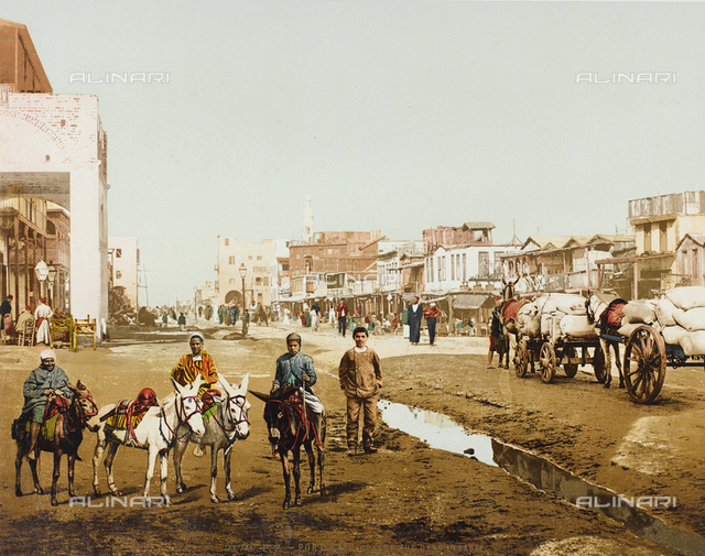 Road of Port Said to the north of the Suez Canal