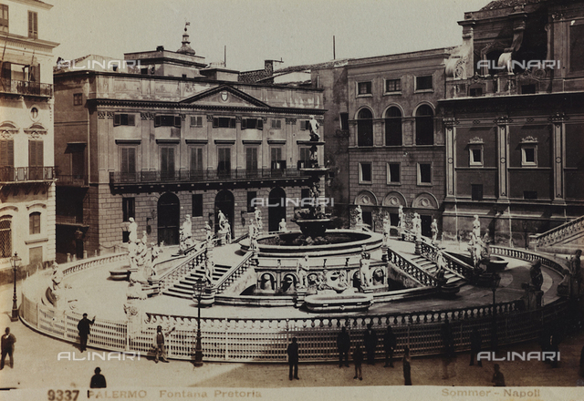 The Fountain Pretoria, in Piazza Pretoria, Palermo