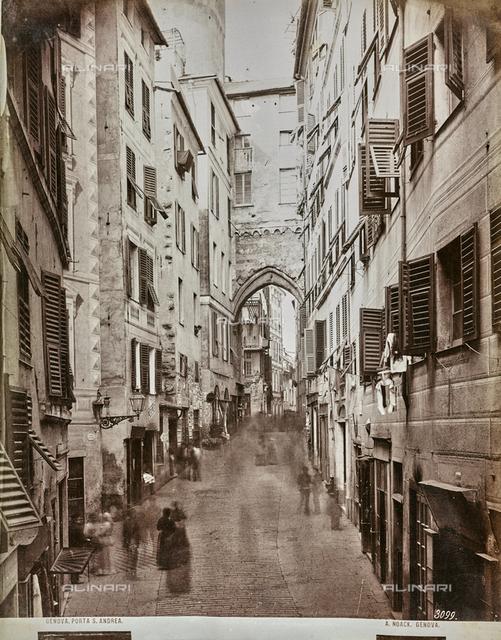 View of Porta Sant'Andrea in Genoa
