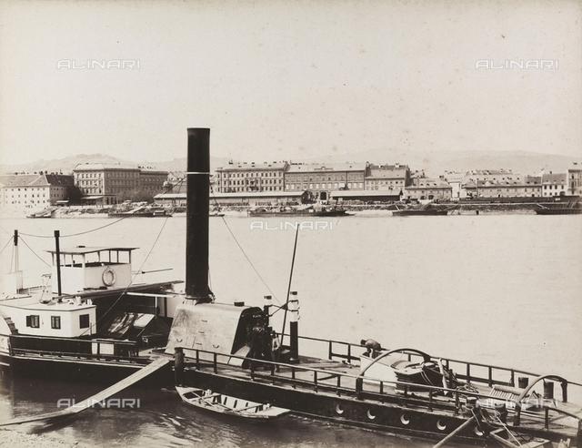 Boat on the Danube at Bratislava
