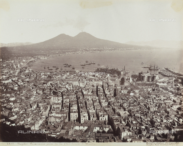 Naples with a view of the gulf and Vesuvius