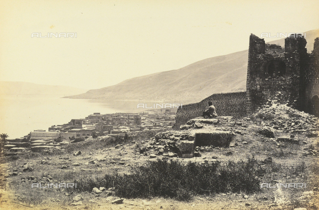 """""""Egypt and Palestine"""": view of the lake and city of Tiberias, Palestine"""