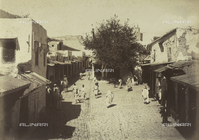 Cruise of the Yacht Gipsy in Tunisia and Sicily. A street in Tunis