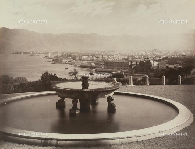 Fountain at the Villa Belmonte, in Palermo
