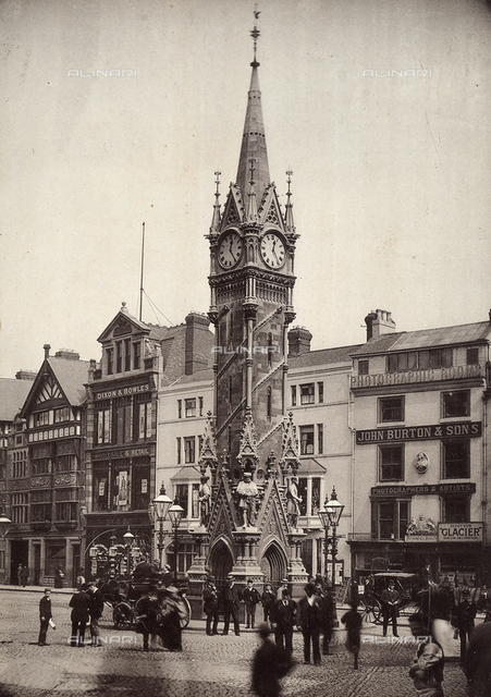 An Irish square with the clock tower