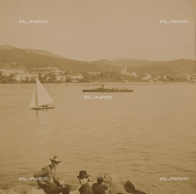 """""""Regattas of San Remo"""": boats on the sea"""