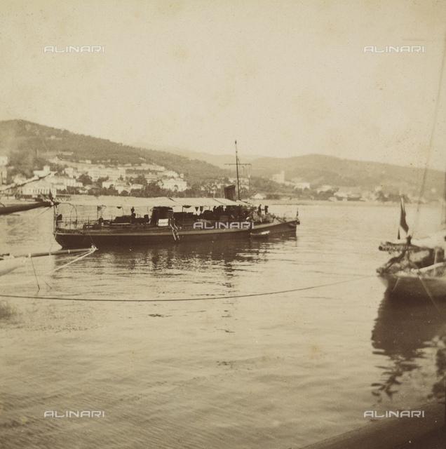 """""""Regattas of San Remo"""": moored boats"""