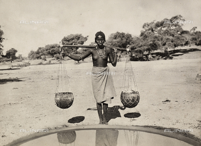 'Building an Empire' in the Fascist age: Cunama woman carrying water