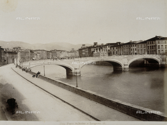 Lungarni in Pisa with the Solferino bridge and Santa Maria della Spina