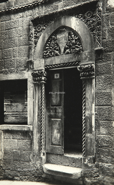 Portal of a building of Korcula in Croatia