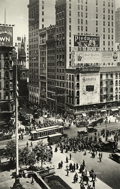 View of a busy street in New York