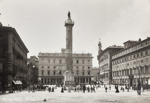The Column of Marcus Aurelius, Piazza Colonna, Rome