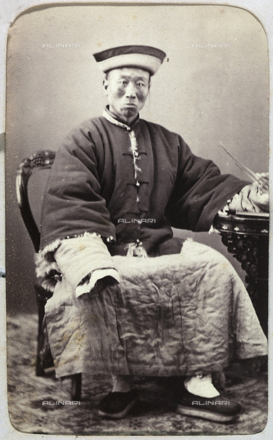 Portrait of a Chinese man in traditional costume