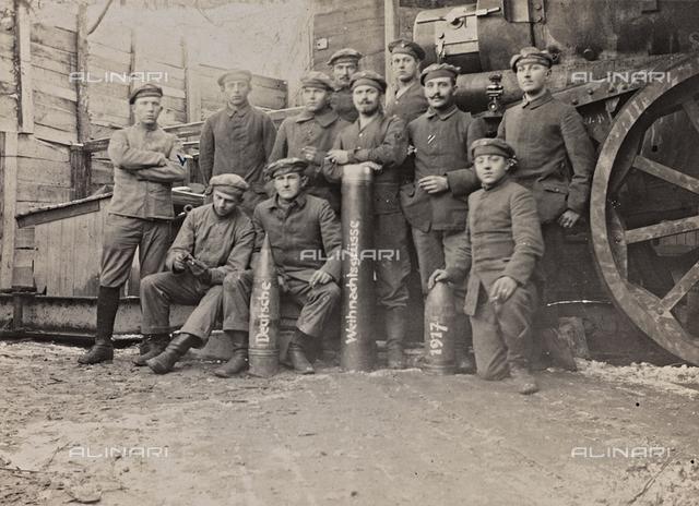 First World War: a group of Belgian artillery