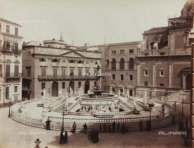 Pretoria Fountain, Francesco Camilliani, Piazza Pretoria, Palermo
