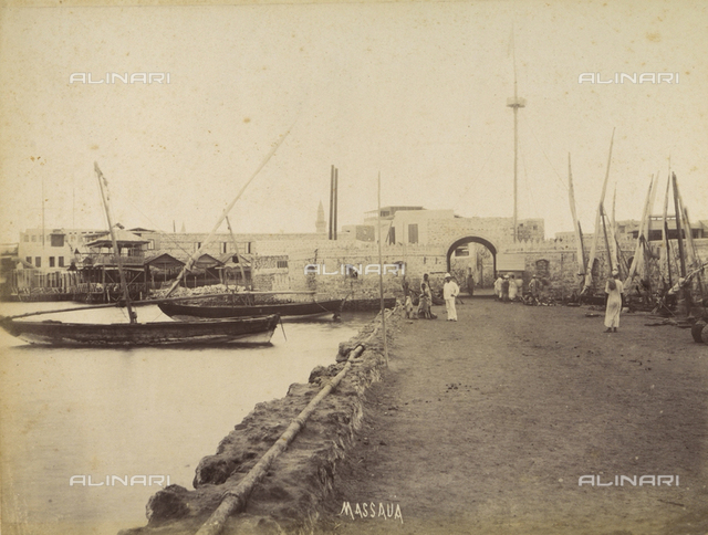 The port of the city of Massaua, Eritrea