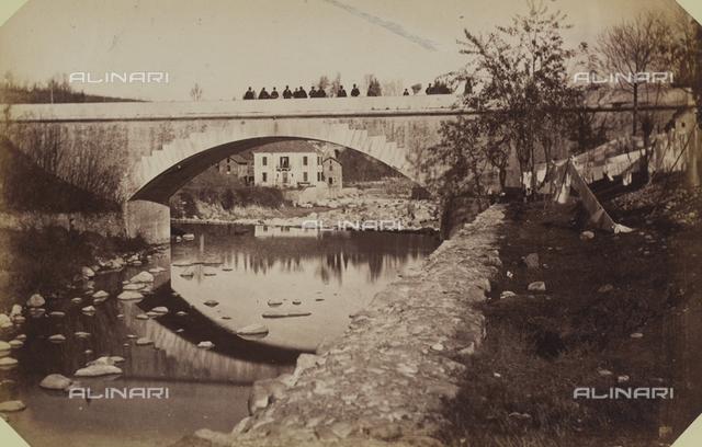 """""""The city of Mondovi and Sanctuary in Vico:"""" the bridge on the Ellero River, in Mondovi Breo"""