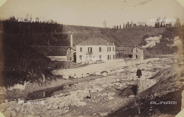 """""""The city of Mondovi and Sanctuary in Vico:"""" view of the Gazzogieno, in Mondovi Breo"""