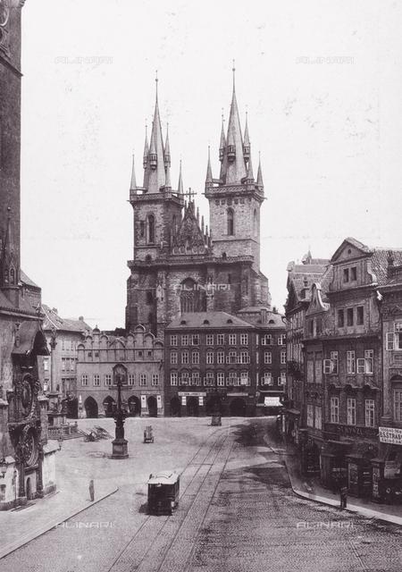 The Tyn Church, exterior, Prague