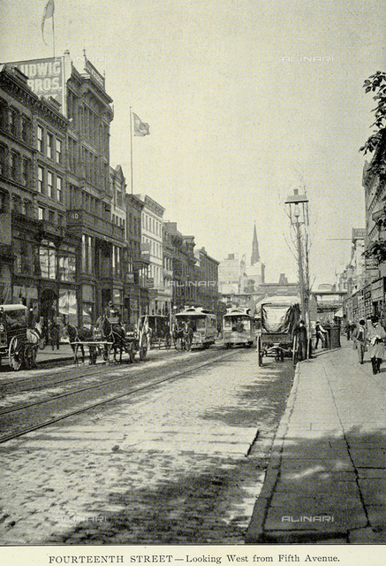 Carriages on 14th Street, New York City