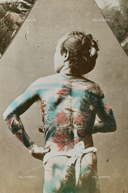 Japanese Tattoo: Japanese man with tattooed body