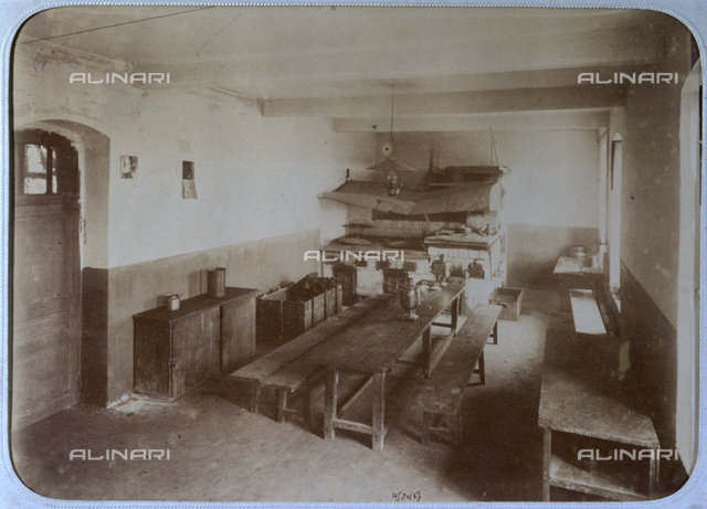 Workers communal kitchen of the Russo-French Pavlovsky-Possad textile company