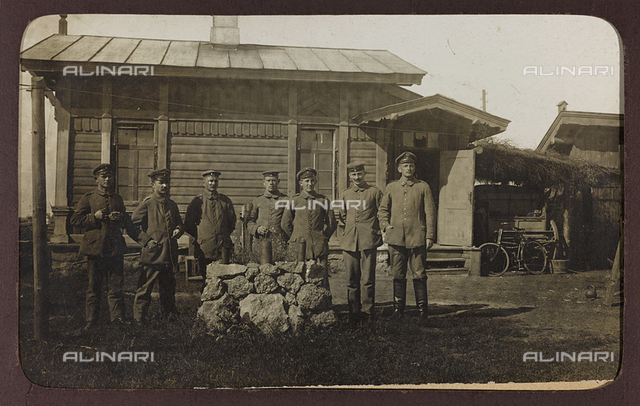 First World War: the 'Ukraine in the years 1914-1916 during the invasion of the German army. Portrait of group