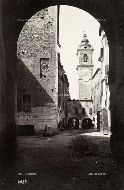 Bell tower of the Church of Santa Maria Maddalena in Bordighera
