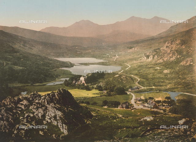 Capel Curig and Mount Snowdon in Wales