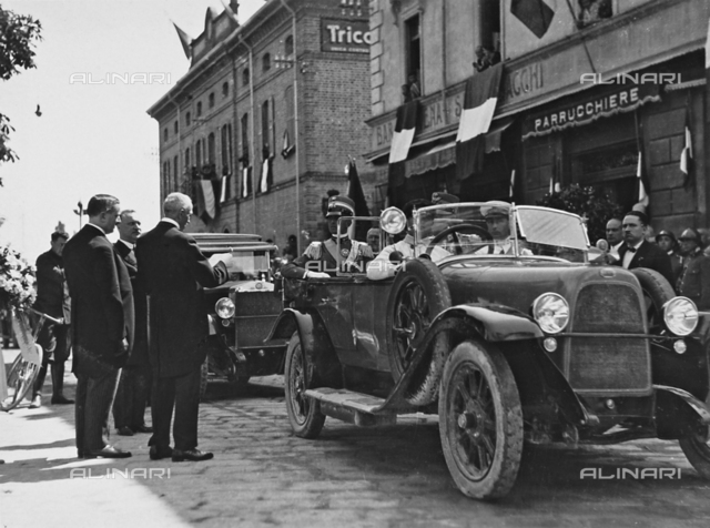 Arrival of H.R.H. the Prince Humbert of Savoy in Salsomaggiore, Parma