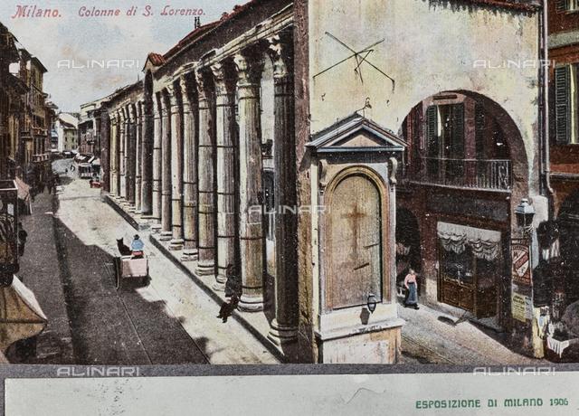 San Lorenzo roman columns, Corso di Porta Ticinese, Milan