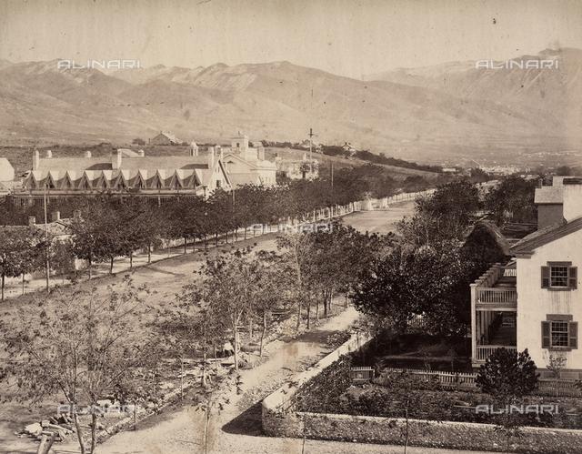 View of Salt Lake City, Utah.