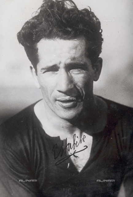 Portrait of a player on the soccer team in Genova