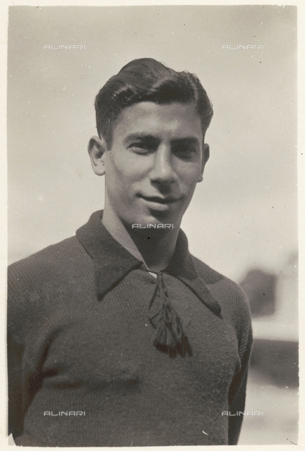Portrait of a player on the Genova soccer team