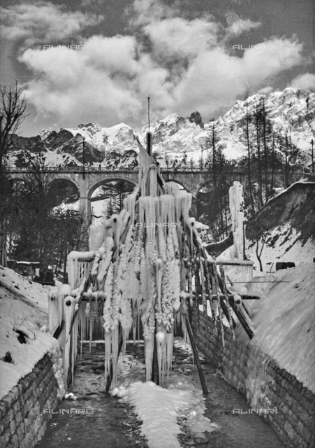 Ice sculpture, Cortina d'Ampezzo, Belluno