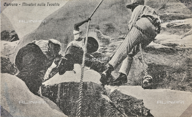 """Carrara - Miners on the Tecchia"": quarriers on the Apuane"