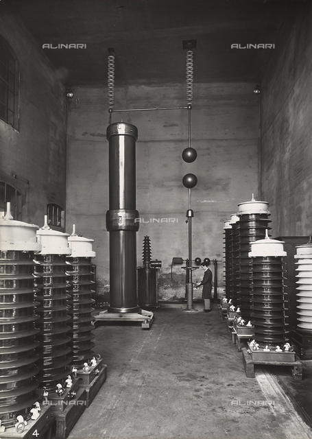 """G.C.S. Measuring instruments, Monza"": high tension testing room, Brianza"