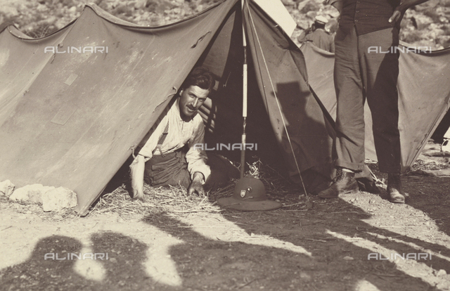Scenes of Tripolitania during the Italian occupation, April 29-May 11, 1914: one of the members of the expedition