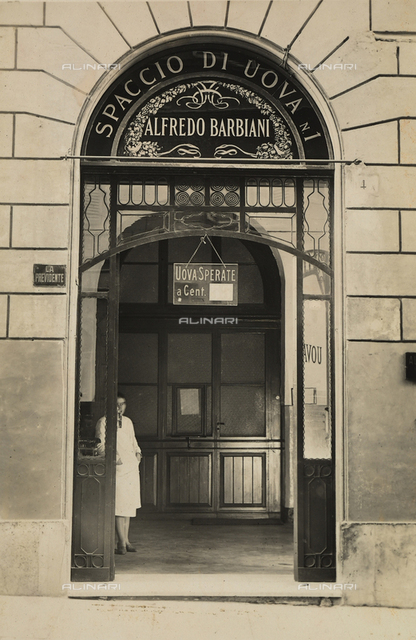 Alfredo Barbiani Firm: store for the sale of eggs on Via Manin in Rome