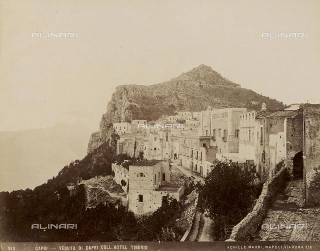 Panoramic view of Capri and Tiberio Hotel
