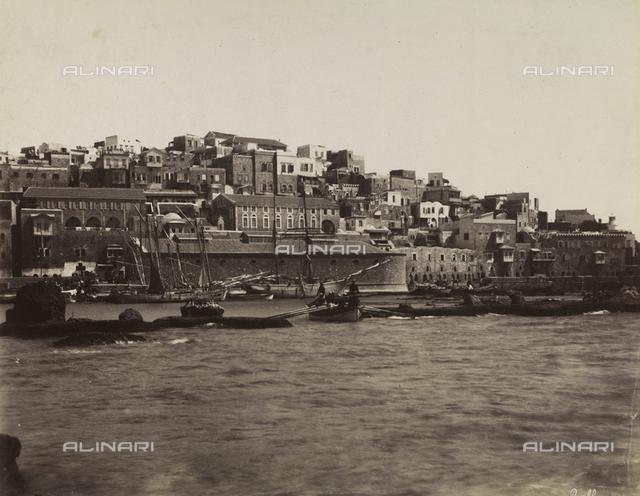 View of the port of Jaffa (now Tel Aviv-Jaffa), Israel