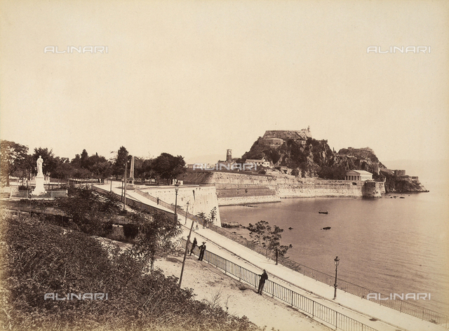 View of Corfu with the Venetian Castle