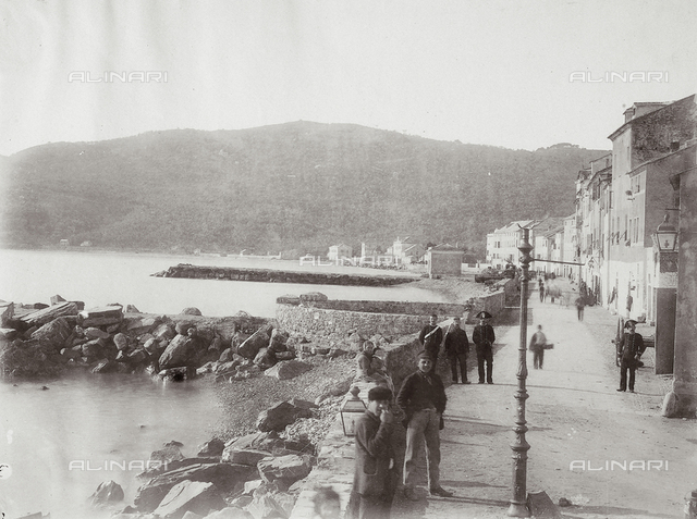 The town of Diano Marino, Imperia, before the earthquake of 23 February 1887