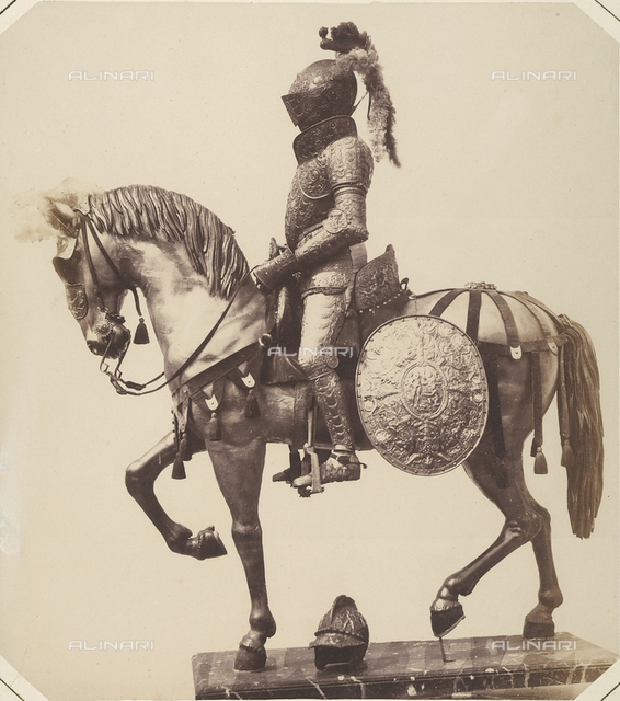 Barding for a horse and the armor of Alessandro Farnese, Duke of Parma, preserved in Austria